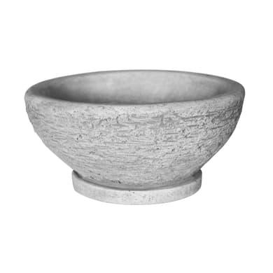 Ciotola in calcestruzzo colore grigio H 14 cm, Ø 29 cm