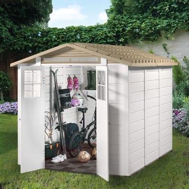 Casetta da giardino in pvc Tuscany Evo 240,  superficie interna 4.65 m² e spessore parete 22 mm