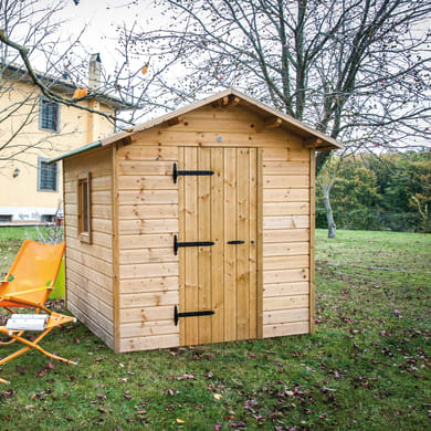Casetta da giardino in legno Bea,  superficie interna 4.33 m² e spessore parete 19 mm