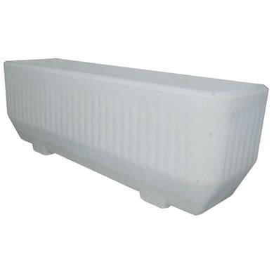 Fioriera Rigata in calcestruzzo colore bianco H 37 cm, L 100 x P 33 cm