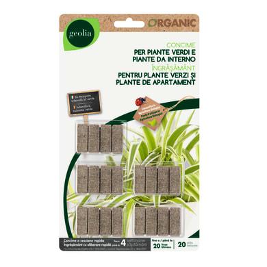 Concime bastoncini GEOLIA Organic 20 pezzi