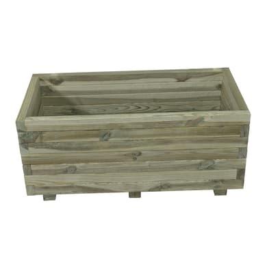 Fioriera STELMET in legno colore naturale H 34.5 cm, L 80 x P 40 cm