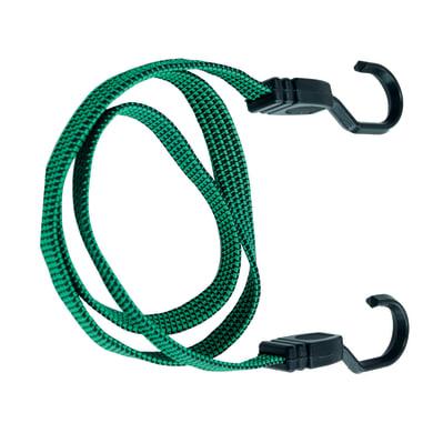 Set di cavi elastici con ganci in metallo rivestito 2 pz. L 18 mm, 2 pezzi