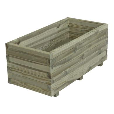 Fioriera STELMET in legno colore naturale H 39.5 cm, L 120 x P 40 cm