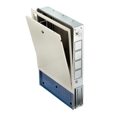 Cassetta collettore per riscaldamento a pavimento ad acqua L 700 x H 630 x P 80 mm