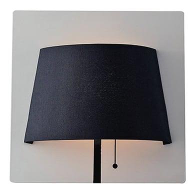 Applique moderno Wharol LED integrato nero, in alluminio, 25 cm,