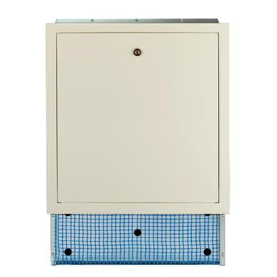 Cassetta collettore per riscaldamento a pavimento ad acqua L 850 x H 630 x P 90 mm