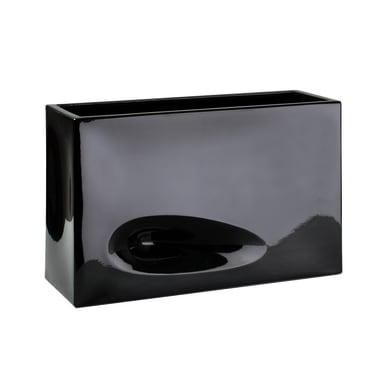 Fioriera Modo in plastica colore nero H 50 cm, L 74 x P 36 cm