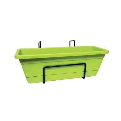 Fioriera ARTEVASI Venezia in plastica verde H 10 cm, L 12 x L 30 cm