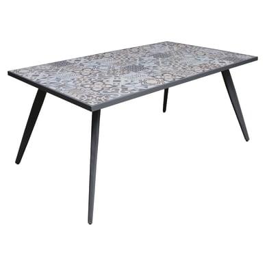 Tavolo da pranzo per giardino rettangolare Bohemian con piano in acciaio L 82 x P 162 cm