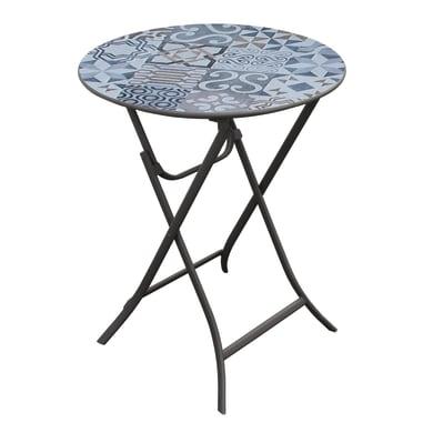 Tavolo da pranzo per giardino rotondo Bohemian in acciaio
