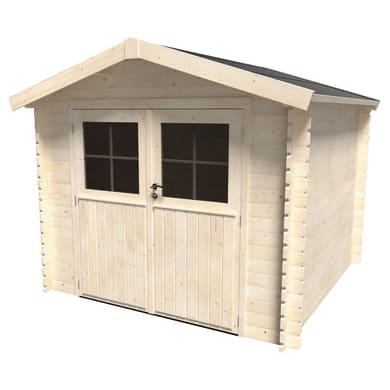 Casetta da giardino in legno Primula Plus,  superficie interna 5.9 m² e spessore parete 28 mm