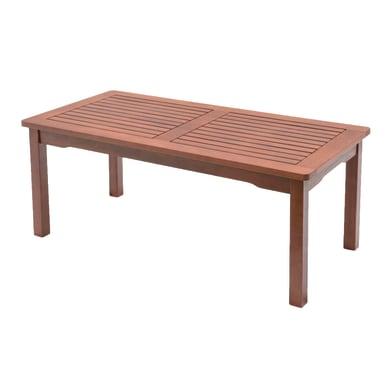 Tavolino da giardino rettangolare Kerving con piano in legno L 50 x P 100 cm