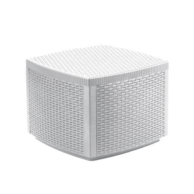 Tavolino da giardino quadrata contenitore Lipari in resina L 53 x P 53 cm