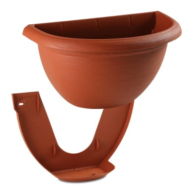 Vaso Terrae in polipropilene colore cotto H 18.4 cm, Ø 31.5 cm