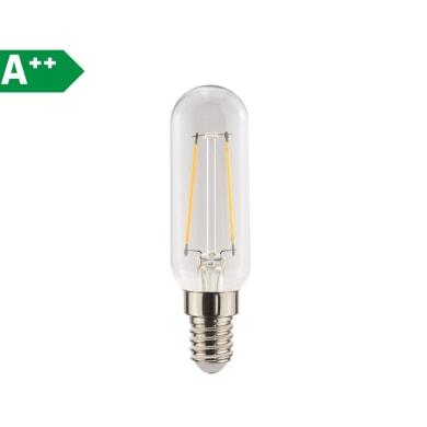 Lampadina Filamento LED E14 tubo bianco caldo 2.5W = 250LM (equiv 25W) 360° LEXMAN