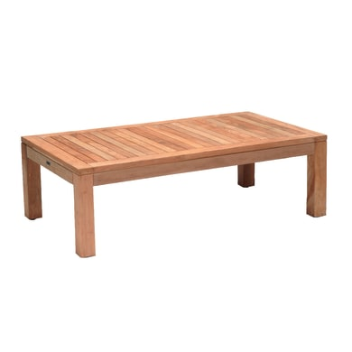 Tavolino da giardino rettangolare Boston con piano in legno L 80 x P 140 cm