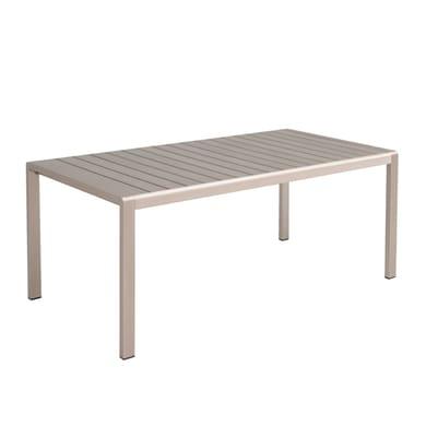 Tavolo da pranzo per giardino rettangolare Albany NATERIAL con piano in composito L 100 x P 170 cm