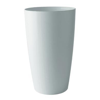 Vaso Santorini ARTEVASI in polipropilene colore bianco H 78 cm, Ø 40 cm