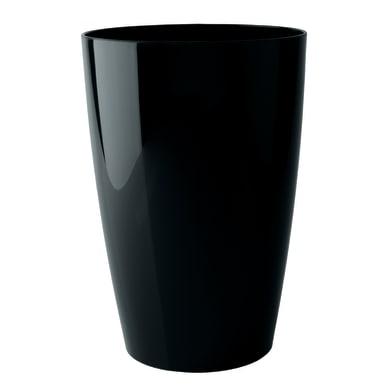 Vaso Santorini ARTEVASI in polipropilene colore nero H 40 cm, L 29 x Ø 29 cm