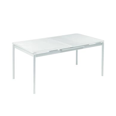 Tavolo da giardino allungabile  rettangolare Syd con piano in acciaio L 160 x P 90 cm