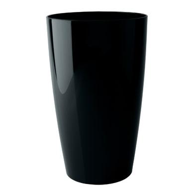 Vaso Santorini plus in plastica colore nero H 65 cm, Ø 33 cm