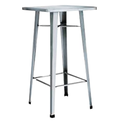 Tavolo da pranzo per giardino quadrato Industrial con piano in ferro L 60 x P 60 cm