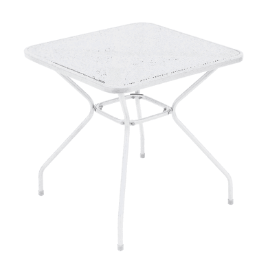 Tavolo da pranzo per giardino quadrato Bardolino con piano in ferro L 70 x P 70 cm