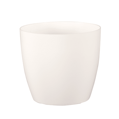Vaso Sanremo ARTEVASI in polipropilene colore bianco H 18 cm, L 20 x Ø 20 cm