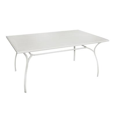 Tavolo da pranzo per giardino rettangolare Desenzano con piano in ferro L 100 x P 160 cm