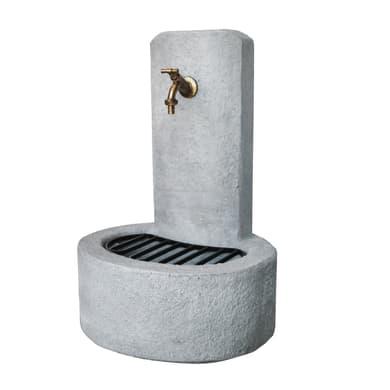 Fontana a colonna Alice in calcestruzzo H 69 cm, 47 x 37 cm