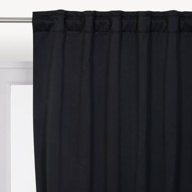 Tenda INSPIRE Oscurante termica Stop Cold nero fettuccia con passanti nascosti 140 x 280 cm