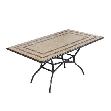 Tavolo da pranzo per giardino rettangolare New Gijon NATERIAL con piano in mosaico L 92 x P 162 cm