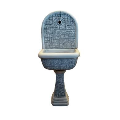 Fontana a parete Mattonella in calcestruzzo H 124 cm, 50 x 37 cm