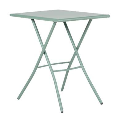 Tavolo da pranzo per giardino rettangolare Gaia con piano in acciaio L 70 x P 50 cm