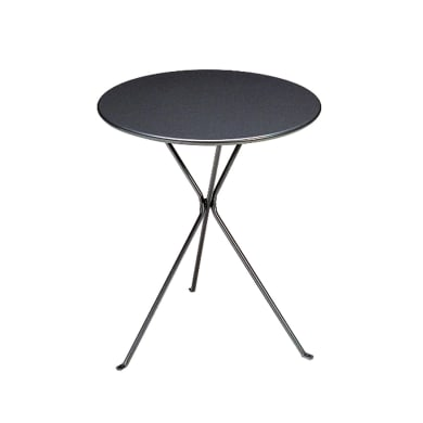 Tavolo da pranzo per giardino rotondo Gueridon con piano in acciaio Ø 60 cm