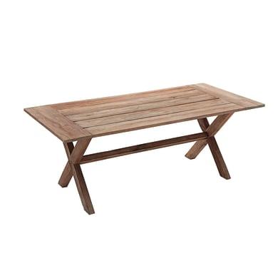 Tavolo da pranzo per giardino rettangolare Tanzania con piano in legno L 100 x P 210 cm