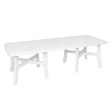 Tavolo da giardino allungabile rettangolare Trio Plus con piano in resina L 180/240 x P 100 cm