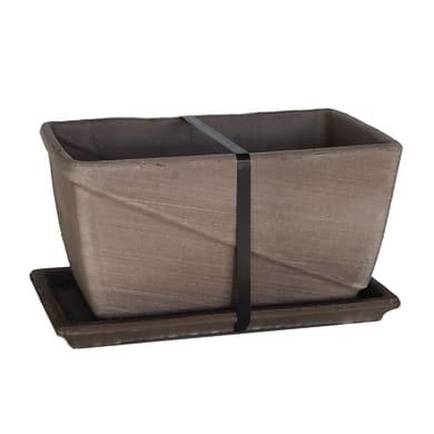 Cassetta portafiori Line in terracotta colore marrone H 21 cm, L 30 x P 19 cm