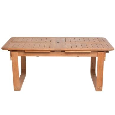 Tavolo da giardino allungabile  rettangolare NATERIAL con piano in legno L 180 x P 100 cm
