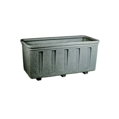 Fioriera in plastica colore grigio H 50 cm, L 105 x P 50 cm