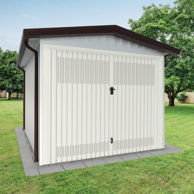 Garage in acciaio al carbonio Chicago 14.82 m², Sp 40 mm