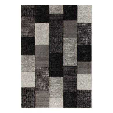 Tappeto Textures grigio e nero 200x300 cm
