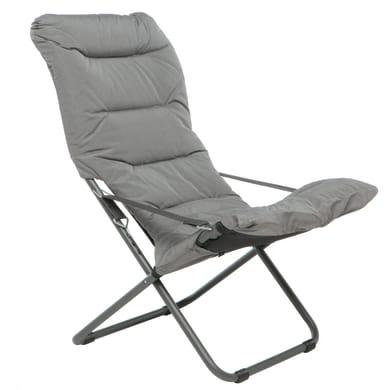 Sedia a sdraio pieghevole Comfort Soft in acciaio antracite