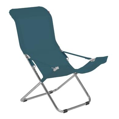 Sedia a sdraio pieghevole Comfort in acciaio verde