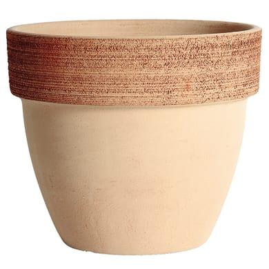 Vaso Palladio graffiato in terracotta colore impruneta H 18.2 cm, Ø 20 cm