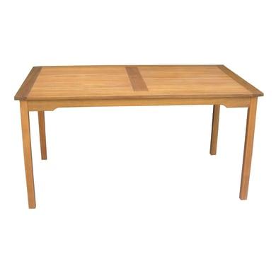 Tavolo da pranzo per giardino rettangolare RTA con piano in legno L 90 x P 150 cm