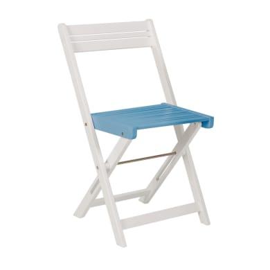 Sedia da giardino senza cuscino Balcony colore celeste