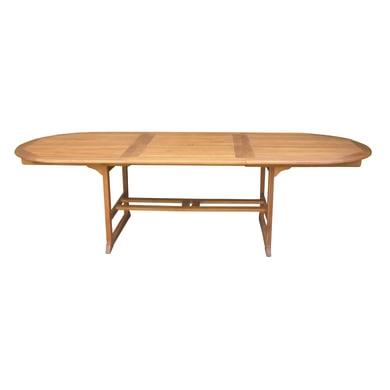 Tavolo da pranzo per giardino ovale OTA con piano in legno L 110 x P 200 cm