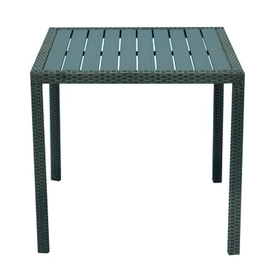 Tavolo da giardino quadrato Orleans con piano in resina L 80 x P 80 cm
